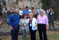 Nikos Koutsogiannis (Mayor of Naoussa), Angeliki Kottaridi (Director of the 17th Ephorate of Prehistoric and Classical Antiquities), Demetra Sfendoni-Mentzou (President DIKAM), Dory Scaltsas (Univerisity of Edinburgh, UK)
